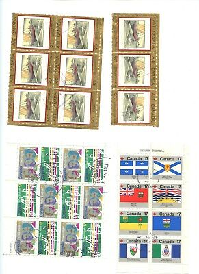 Canada Used Lot in Blocks Art Flags Music K278