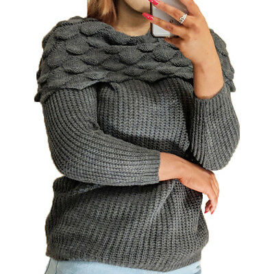 Womens Ladies Fluffy All Over Eyelash Fur Marl Knit Knitwear Pullover Jumper Top