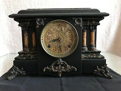 Antique Seth Thomas Adamantine Mantle Clock, No.102.  Good Condition.