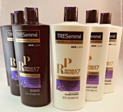 LOT OF 6 TRESEMME PRO REPAIR/PROTECT SHAMPOO & CONDITIONER 22 oz EACH