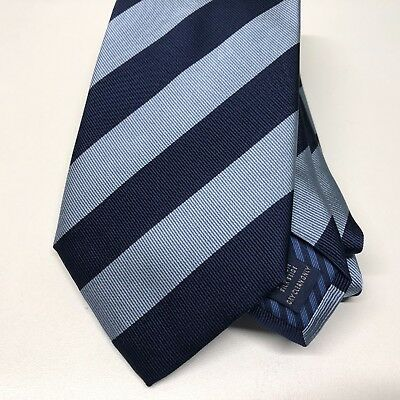 Mens Blue Tie CHARLES TYRWHITT Silk 9.5cm Navy Sky Woven Broad Club Striped