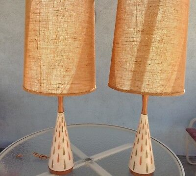 Vintage MCM Table Lamps, Mid Century Modern, Pair, F.A.I.P.