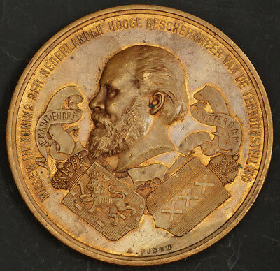 """1883, Netherlands. """"International Colonial and Export Exhibition"""" Prize Medal."""
