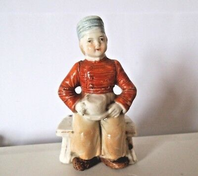 Antique Staffordshire figure BOY WITH CUP early 19th century for repair