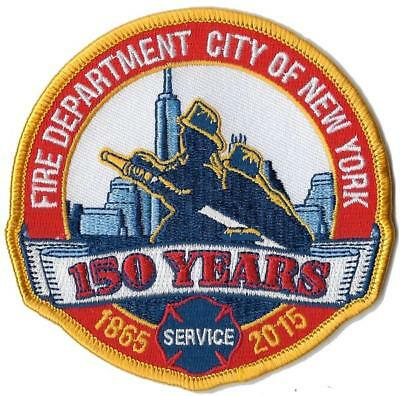 New York City Fire Dept. 150 Anniversary Round Design Fire Patch