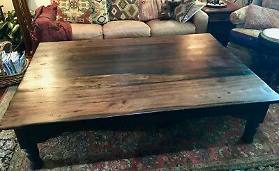 Stunning Rustic Wooden Coffee Table large 48x72