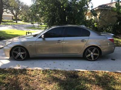 2008 BMW 5-Series Base Sedan 4-Door AMAZING!!!! CUSTOM WHEELS AND SPOIELRS