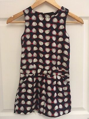 River Island Girls Navy Blue & Red Playsuit Dress Age 7 Excellent Condition