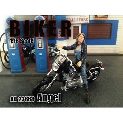Biker figure ANGEL-1/18 scale figure - AMERICAN DIORAMA - Figure ONLY