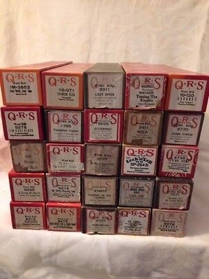 25 Antique QRS Player Piano Rolls, Spanish Flea, Cabaret, Rock N' Roll-TR/GR-D14