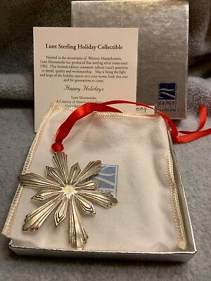 Lunt Sterling Silver Star Ornament 2004