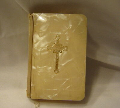 Rare Vintage Catholic Bridal Prayer Book 1955 Mother Of Pearl Off White Cover