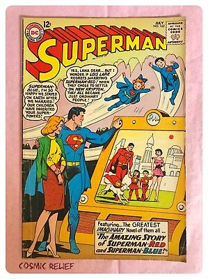 SUPERMAN DC Comics #162 July 1963. Superman Red & Superman Blue. Grade VG to FN