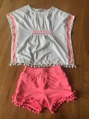 Girls Neon Pink & White Bobble Outfit From Next Age 5 Years