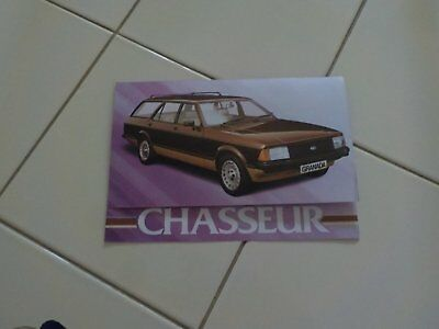 Ford Granada Chasseur Single page brochure