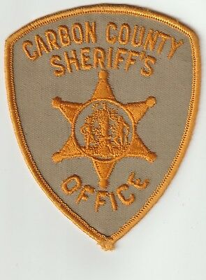 Carbon County Sheriff's Office Wyoming Wy Police Patch