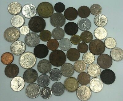Bulk Lot of 50 Assorted World Foreign Coins- Nice Assorted Mix!