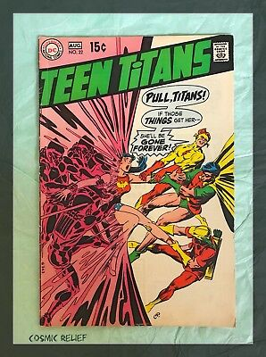Teen Titans #22 (Aug 1969, Silver Age DC) Features Origin of Wonder Girl. VF+