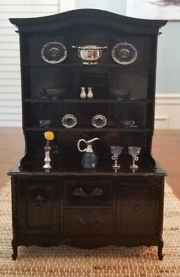 Pedigree Sindy Barbie Black Dining Room Hutch Buffet EUC No Box