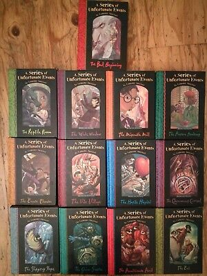 Lemony Snicket A Series Of Unfortunate Events Books 1-13 Complete Hard Back Set