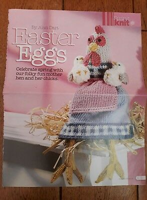 Alan Dart knitting pattern Easter Eggs magazine pullout