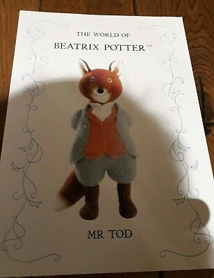 Alan Dart Beatrix potter Mr Tod Knitting pattern