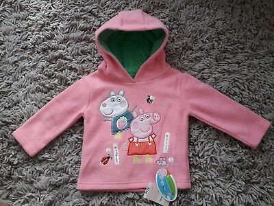 Mothercare Baby Girls Peppa Pig Quality Hoodie Hooded Top Age 9/12 Months Pink