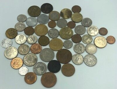 Bulk Lot of 49 Assorted World Foreign Coins- Nice Assorted Mix!