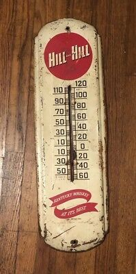Antique Kentucky Whiskey Advertising Thermometer Hill And Hill Louisville Works