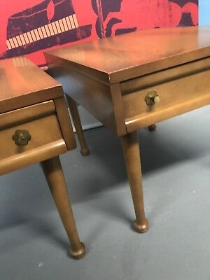 Vintage Mid Century Modern American Of Martinsville Side Tables Night Stand