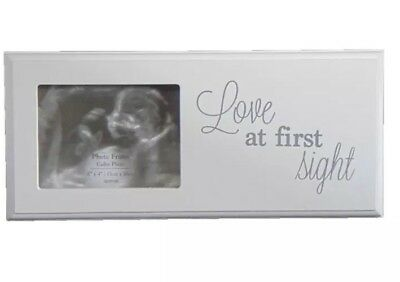 Ultrasound Baby Scan Picture Wooden Photo Frame ~ Love At First Set - MEGA SALE