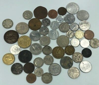 Bulk Lot of 48 Assorted World Foreign Coins- Nice Assorted Mix!