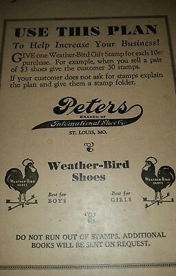 Peters Weather-Bird shoes gift stamps store stock St. Louis Mo