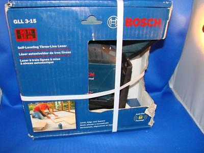 Bosch GLL 3-15 Self-Leveling Three-Line Laser Complete