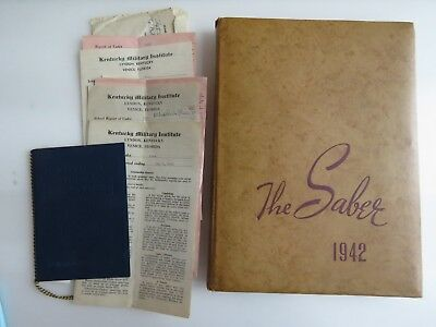 1942 WWII The Saber Kentucky Military Institute Yearbook Albert Shaw WW2 A878