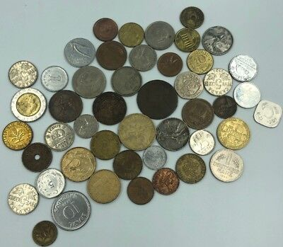 Bulk Lot of 47 Assorted World Foreign Coins- Nice Assorted Mix!