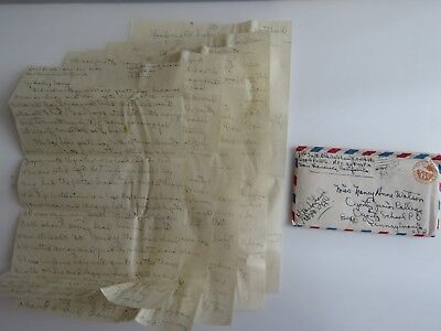 WWII Letter 294 Port Admiralty Islands Rotted Japanese Bodies Jungle Dugout A868