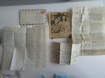 WWII Letter 294 Port West Indies WW2 Prt. Mickey Rooney Wedding News Clips A867
