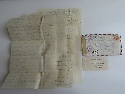 WWII Letter 294 Port Admiralty Islands Col Albert P Shaw Estate Dead Bodies A864