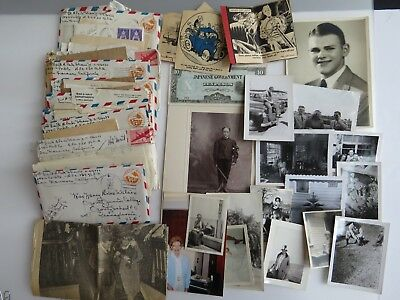 25 WWII Letters Lot Lt. A Park Shaw Admiralty Islands 1st Cavalry WW2 A870