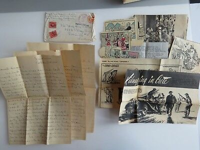 WWII Letters 294 Port New Guinea Albert Shaw Estate Air Raids Bad Accident A865