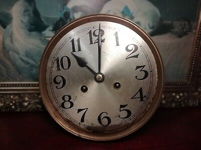 Vintage Clock Face & Movement, Spares or Repair.