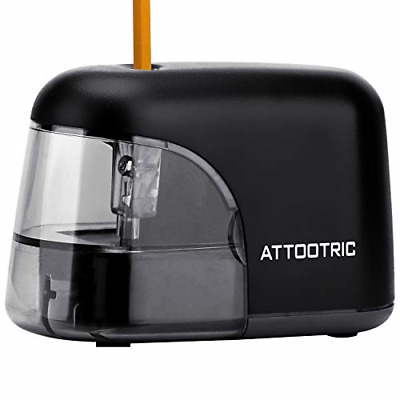 Electric Pencil Sharpener, Heavy Duty AA Battery Powered Auto Safety Setting for