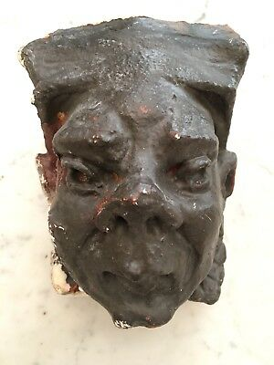 Antique Vintage Architectural Salvage Cement Head Face