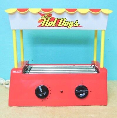 Hot Dog Roller Grill  Roaster Electric Sausage Cooking Machine Bun Warmer