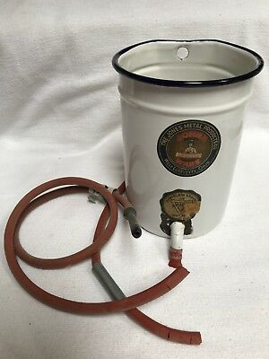 Vintage Porcelain Medical Enema Bucket Jones Metal Products West Lafayette Ohio