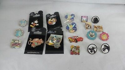 Lot of 19 Disney Trading Pins  Mickey tinkerbell cars tigger eeyore princess