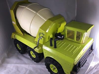 "Tonka Mighty Nice 1974 #3950 6 Wheeler Cement Mixer Truck Press Steel 20 "" Long"