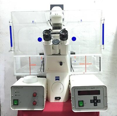 Zeiss Axiovert 200 Inverted Fluorescence Microscope W/ Zeiss XL-3 stage incubatr