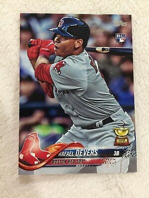 Rafael Devers Rookie Topps Boston Red Sox 2018 Rc Baseball Card